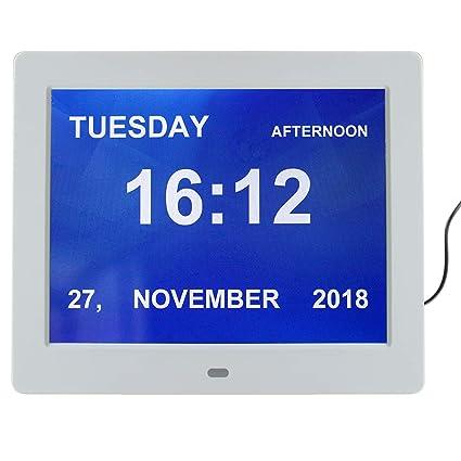 Genchy - Reloj Digital (versión más nítida, Reloj con números Grandes)