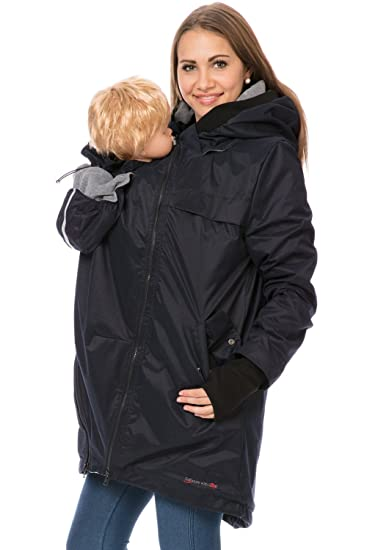 b9bbe217556d9 GoFuture® 4in1 Shell jacket Babycarrying Babywearing coat detachable Hood Maternity  pregnancy multifunction Belly to baby LOVE SHELTER: Amazon.co.uk: ...