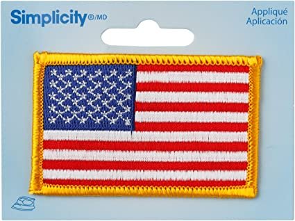 NAVY USA US Flag Embroidered Patch Iron Sew-On Military Motif Applique