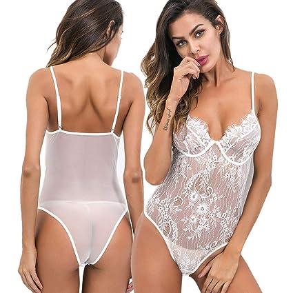 9ef099f28503 Lencería sexy para mujer, ropa de dormir de encaje, ropa interior de ...