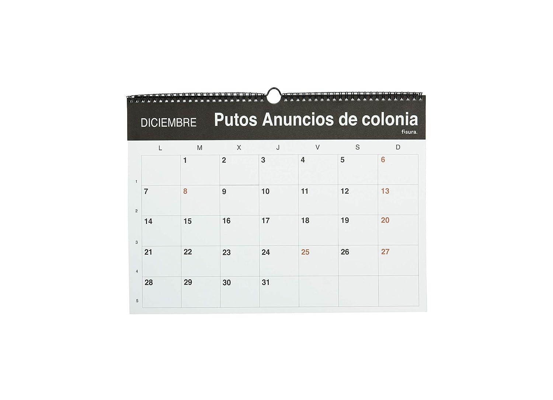 Un mes por p/ágina 42x30cm Formato Grande A3 Fisura Calendario Pared Puto 2020 12 meses Franc/és