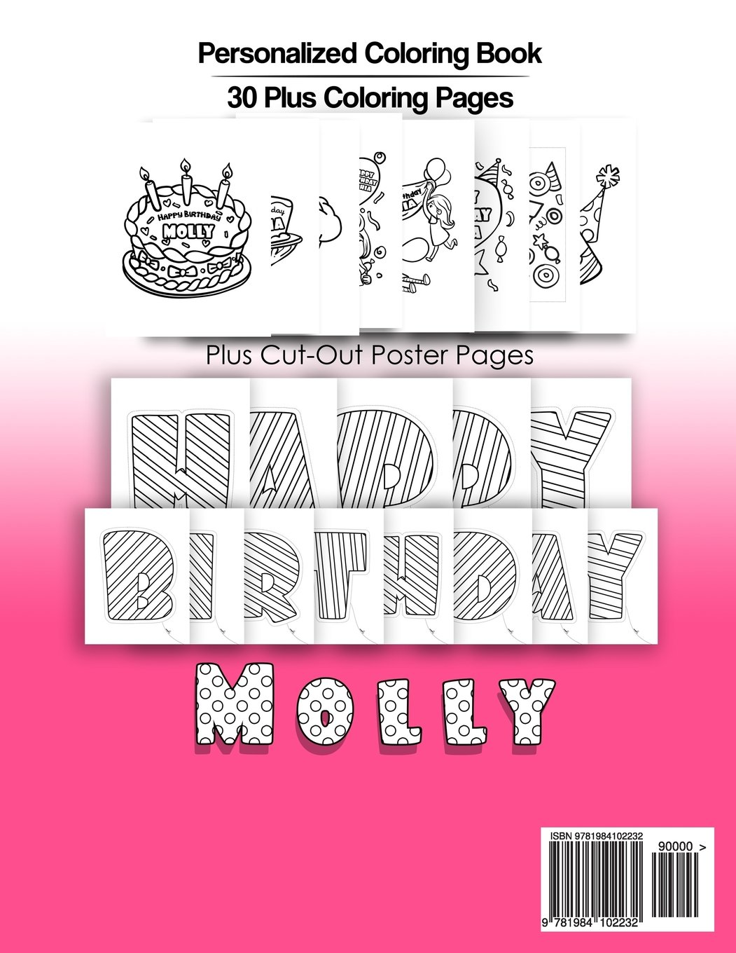 Molly\'s Birthday Coloring Book Kids Personalized Books: A Coloring ...