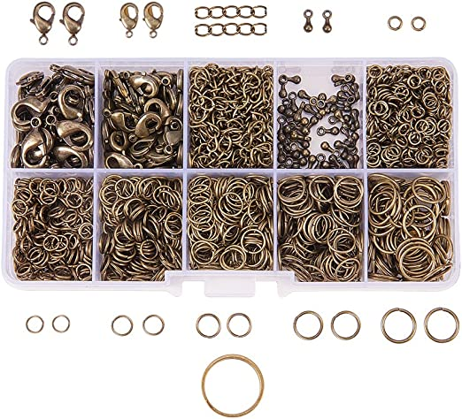 Iron Round Open Jump Rings Mixed 0.7 x 6mm  500 Pcs Findings Jewellery Making