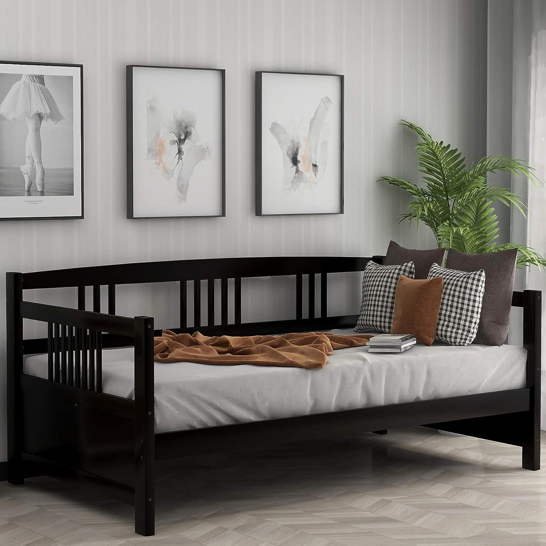Marco de Madera para sofá Cama tamaño Completo con rieles, láminas de Madera Completas para sofá Cama