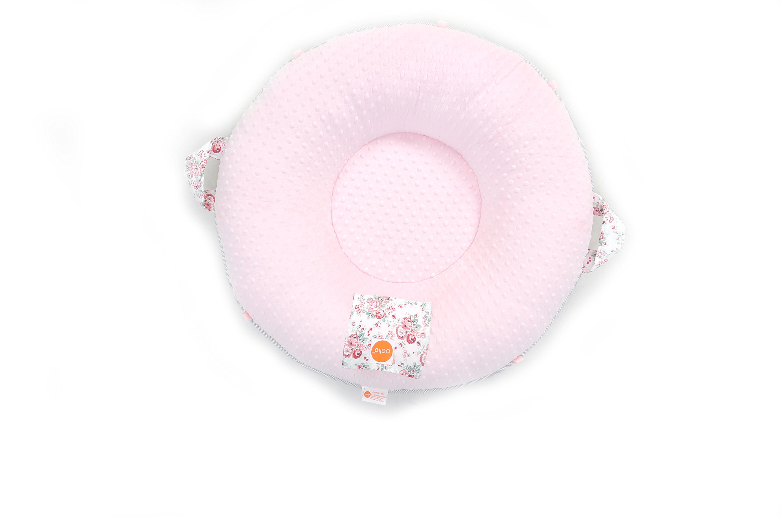 Pello Multi-use Luxe Baby-Toddler Floor Pillow/Play Mat/Lounger (Sarah/Light Pink) by pello (Image #4)