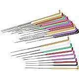 Mayboos 35 Pcs Needle Felting Needles,Wool Felting Supplies with 4 Types Star,Twisted,Cone,Triangular Felting Needles…