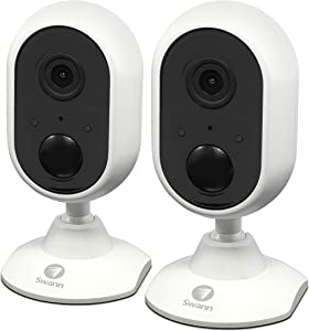 Swann Communications 1080p Wi-Fi Indoor Security Cameras with 2-Way Audio - 2-Pack, Model Number SWWHD-INDCAMPK2-US