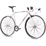 """28"""" KCP FIXIE ROAD RACING BIKE FG-1 ROAD FIXED GEAR SINGLE SPEED white 56cm (28 Inch)"""