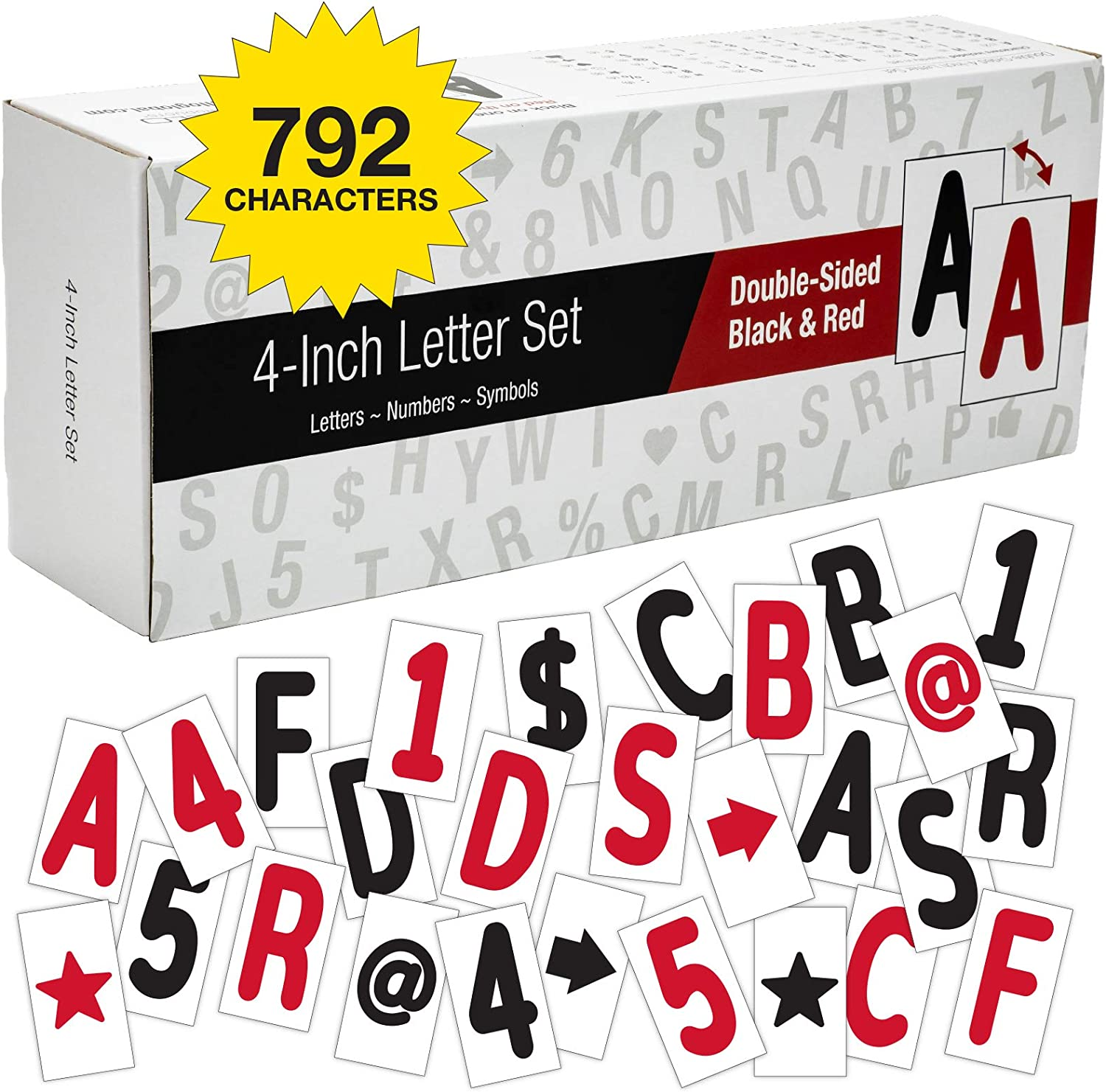 Swinging Sign Letters: Includes 792 Four inch Letters, Symbols, and Numbers for 24
