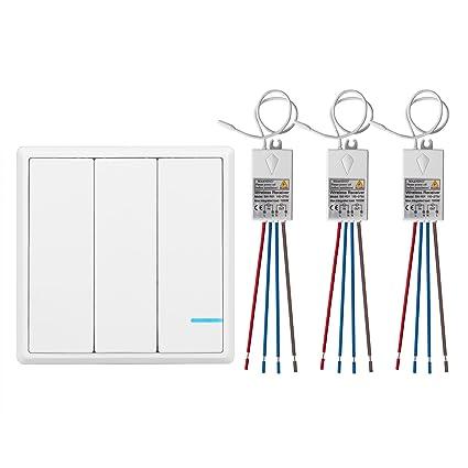 Super Tsss 3 Way Wireless Lights Switch With Receiver Remote Multiunit Wiring Digital Resources Hutpapmognl
