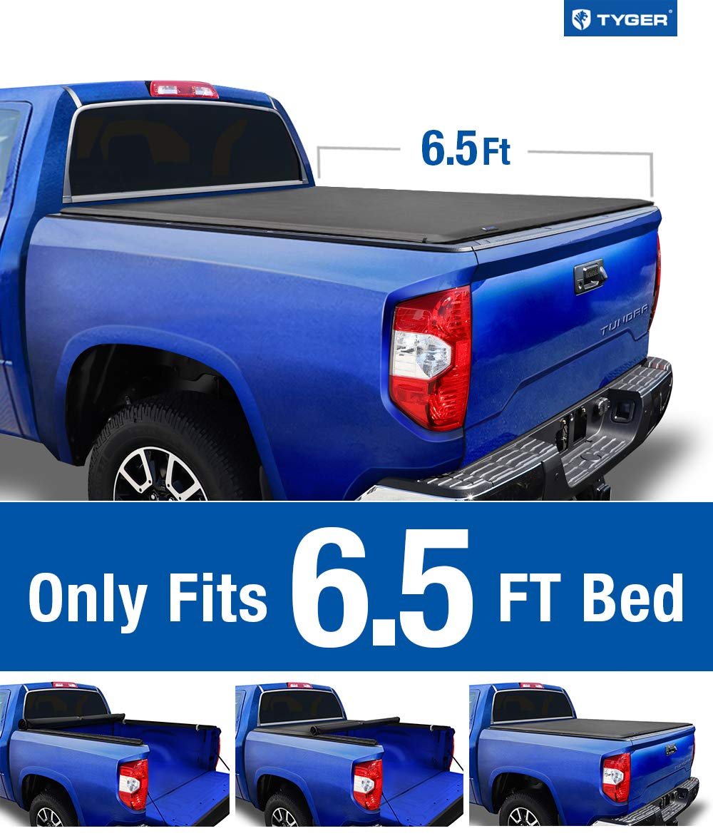 Tyger Auto T1 Soft Roll Up Truck Bed Tonneau Cover For 2014 2020 Toyota Tundra Fleetside 6 5 Bed Tg Bc1t9042 Black Gia Tốt Nhất 2020 Fpt Shop