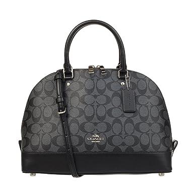 e5fe4824587b Amazon.com  Coach Signature PVC Sierra Satchel F58287 Black Smoke Black   Clothing