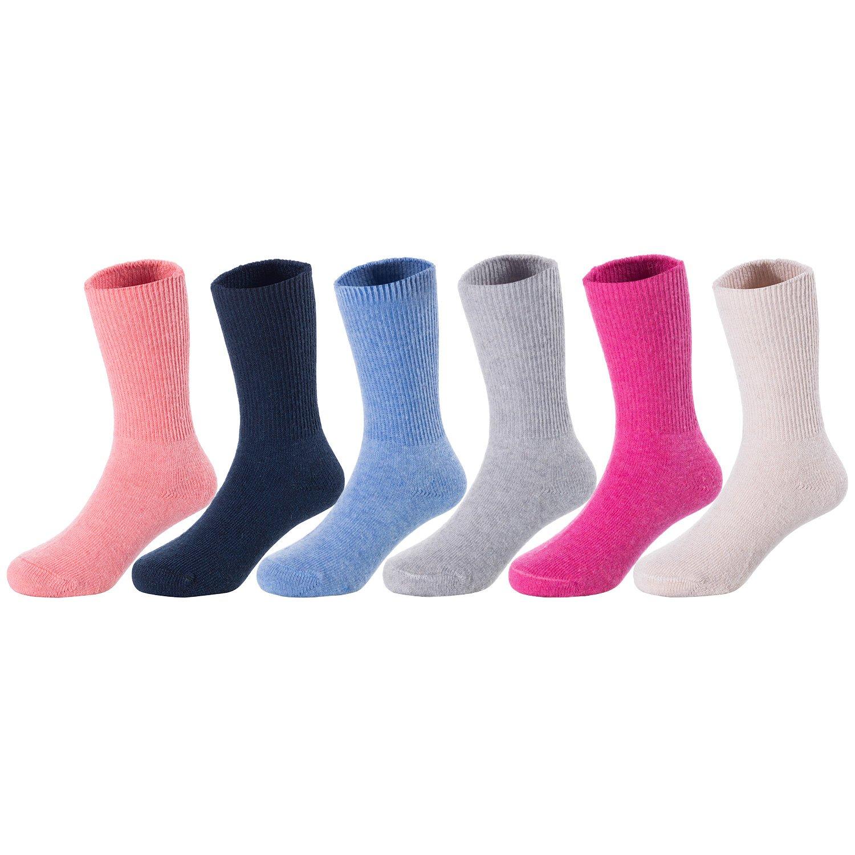 5 Pairs Child Baby Kids Cashmere Wool Warm Thick Soft Girls Boys Winter Socks