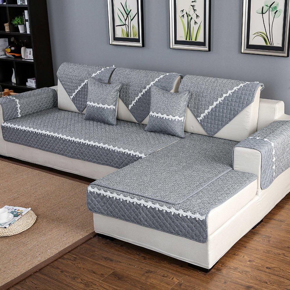 hm dx anti rutsch sofa abdeckung f r sektionaltore couch baumwolle polyester wohnzimmer grau. Black Bedroom Furniture Sets. Home Design Ideas