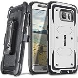 COVRWARE Galaxy S7 Edge [Aegis Series] + Full-Coverage Screen Protector Heavy Duty Rugged Full-Body Armor Holster Case [Belt Swivel Clip][Kickstand] For Samsung Galaxy S7 Edge White (CW-S7EG-AG08)