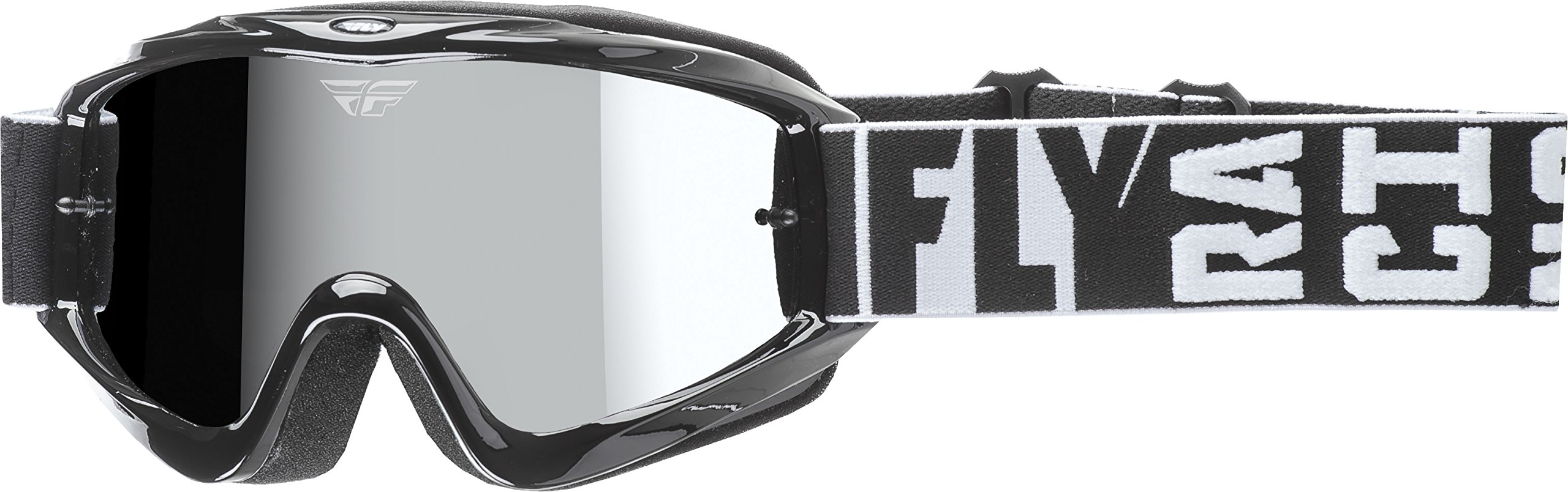 Fly Racing Men's Zone Turret Goggle (Black with Chrome/Smoke Lens, One Size)