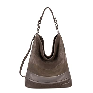 e63b4ee1a3 Amazon.com  DAVID - JONES INTERNATIONAL Vegan Leather Hobo Work Tote Top  Handle Camel Tan Large Bags for Women  Shoes