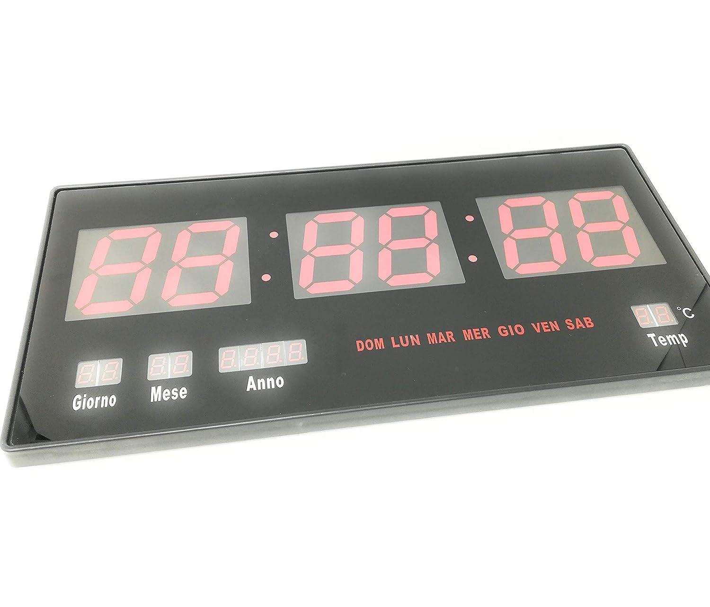 Reloj digital de pared muro a LED extraplano Slim para tiendas Casa Oficina: Amazon.es: Hogar