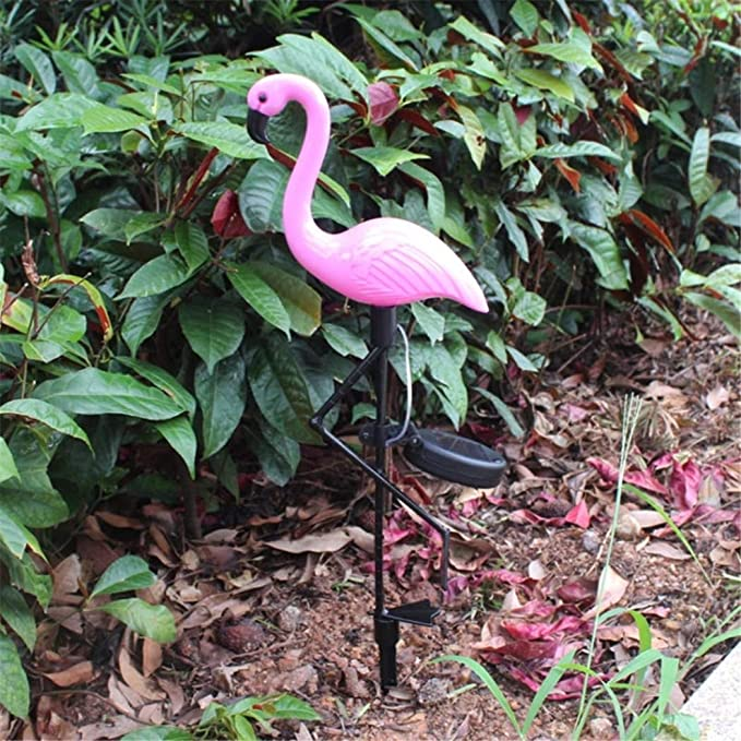 Powerplus Flamingo Colour Changing 3 in 1 LED Solar Garden Light NEW /& Boxed