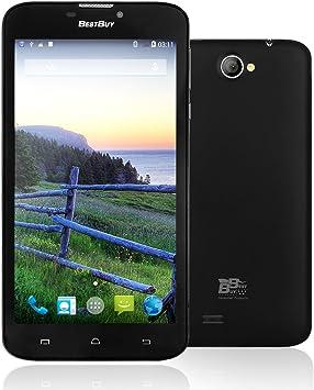 Bestbuy EasyPhone6 6 Pulgadas Smartphone Libre 3G-Teléfono Móvil con Cámara 5MP 8GB ROM MT8312 Dual Core 1,3 GHz, Android 4,4 Dual SIM Wi-Fi, GPS, Phablet () Negro: Amazon.es: Electrónica