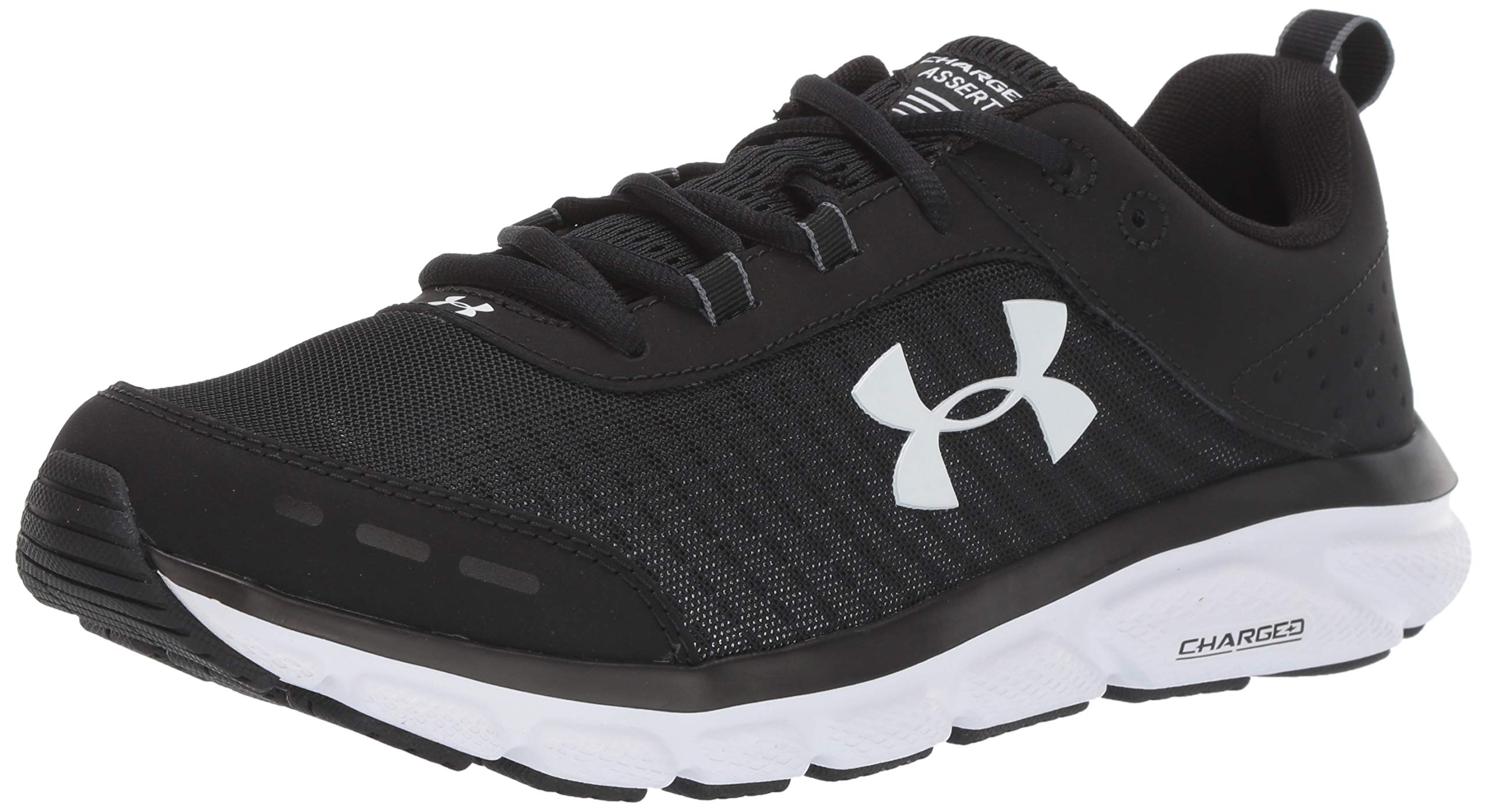 Under Armour Men's Charged Assert 8 Running Shoe, Black (001)/White, 10.5 by Under Armour