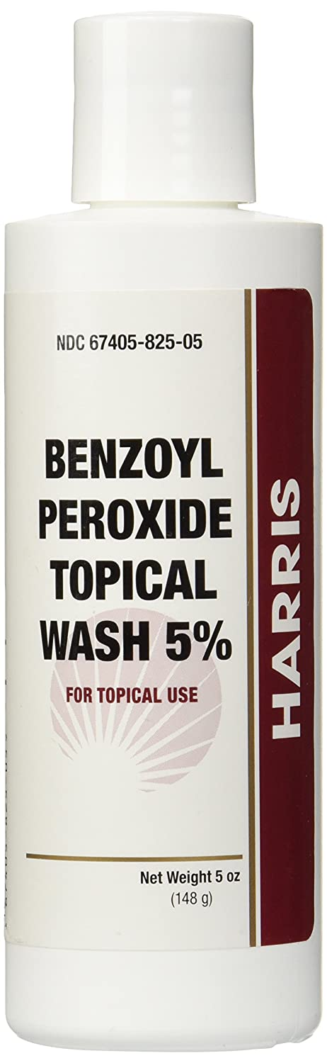 Harris Benzoyl Peroxide Wash 5% Bottle, 5 Ounce