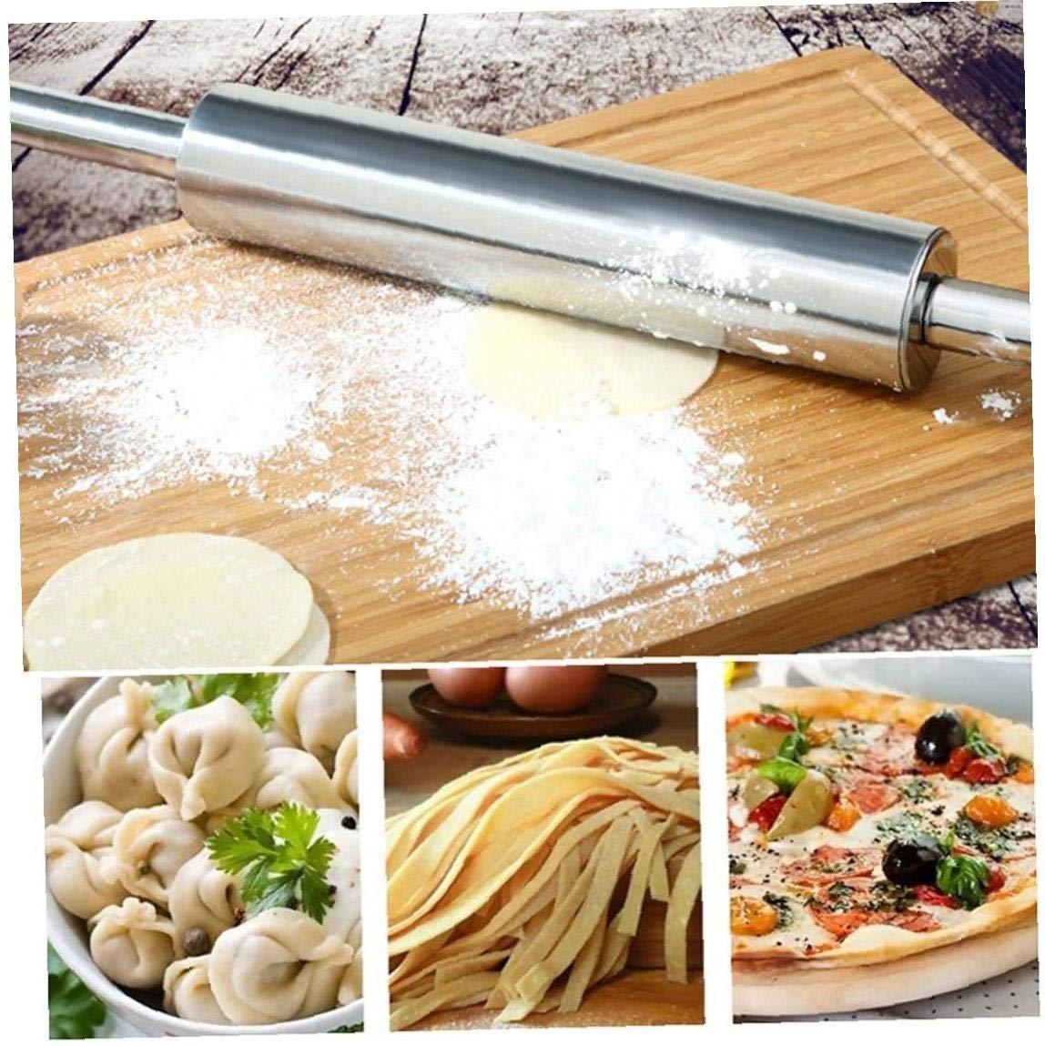 Lankater Acciaio Inossidabile Mattarello Antiaderente Pasticceria Dough Roller Bake Pizza Pasta Cookie Pie Fare Cottura Strumenti