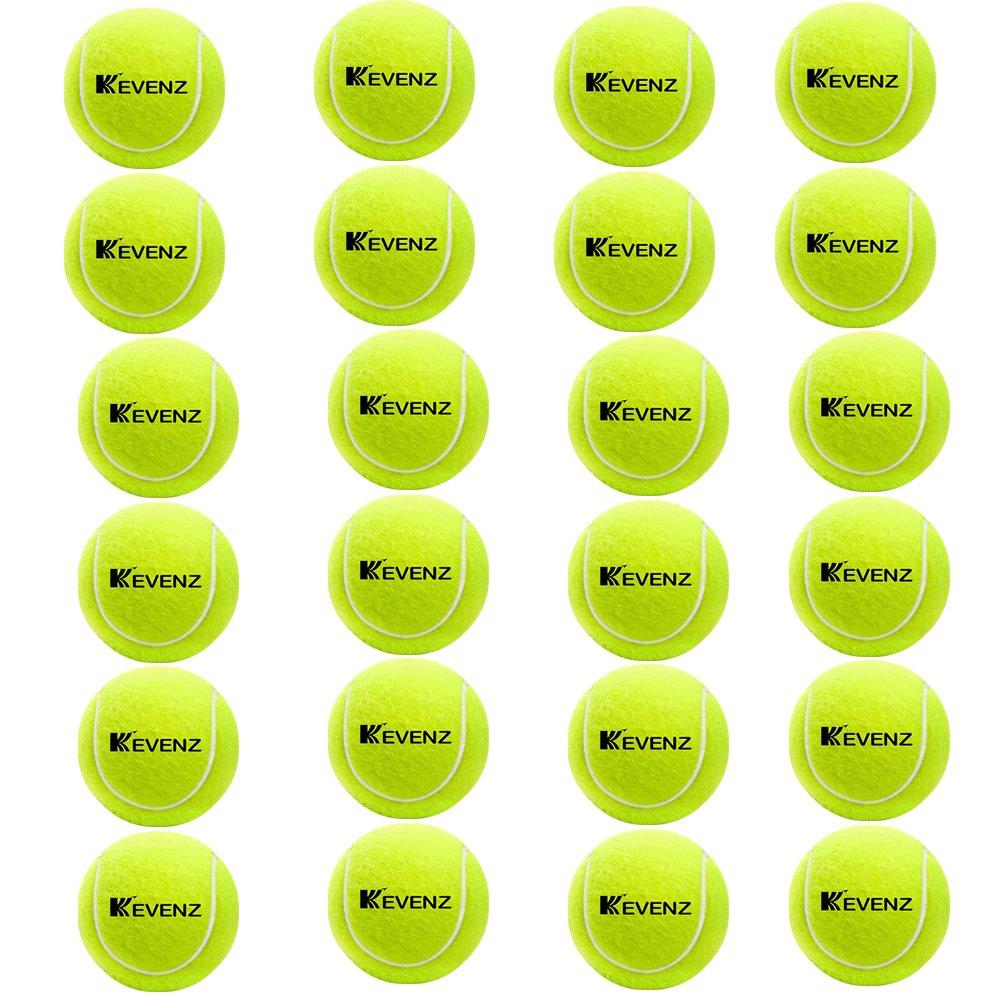 KEVENZ 24-Pack Green Advanced Training Tennis Balls,Practice Ball (Interlocked Wool Fiber) by KEVENZ (Image #2)