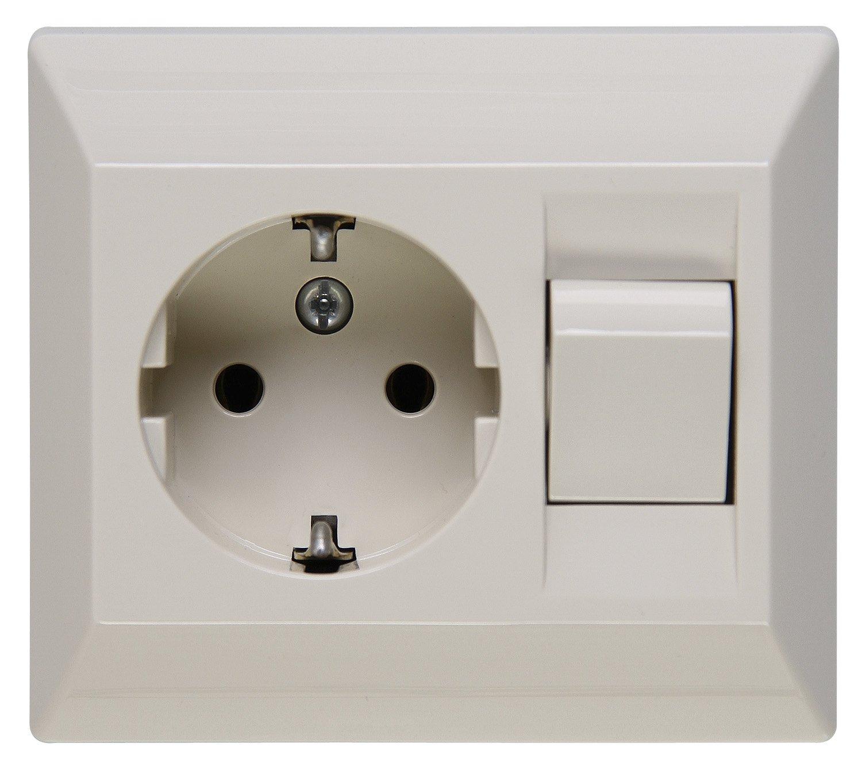 Kopp 190301082 Schutzkontakt-Steckdose mit Universalschalter (Aus ...