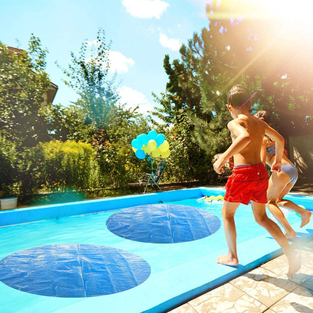 YueLove Round Pool Solar Cover Protector 8//10//12//15 ft Foot Above Ground Blue Protection Swimming Pool Endothermic Protector Thermal Blanket Place Bubble-Side Down in Pool