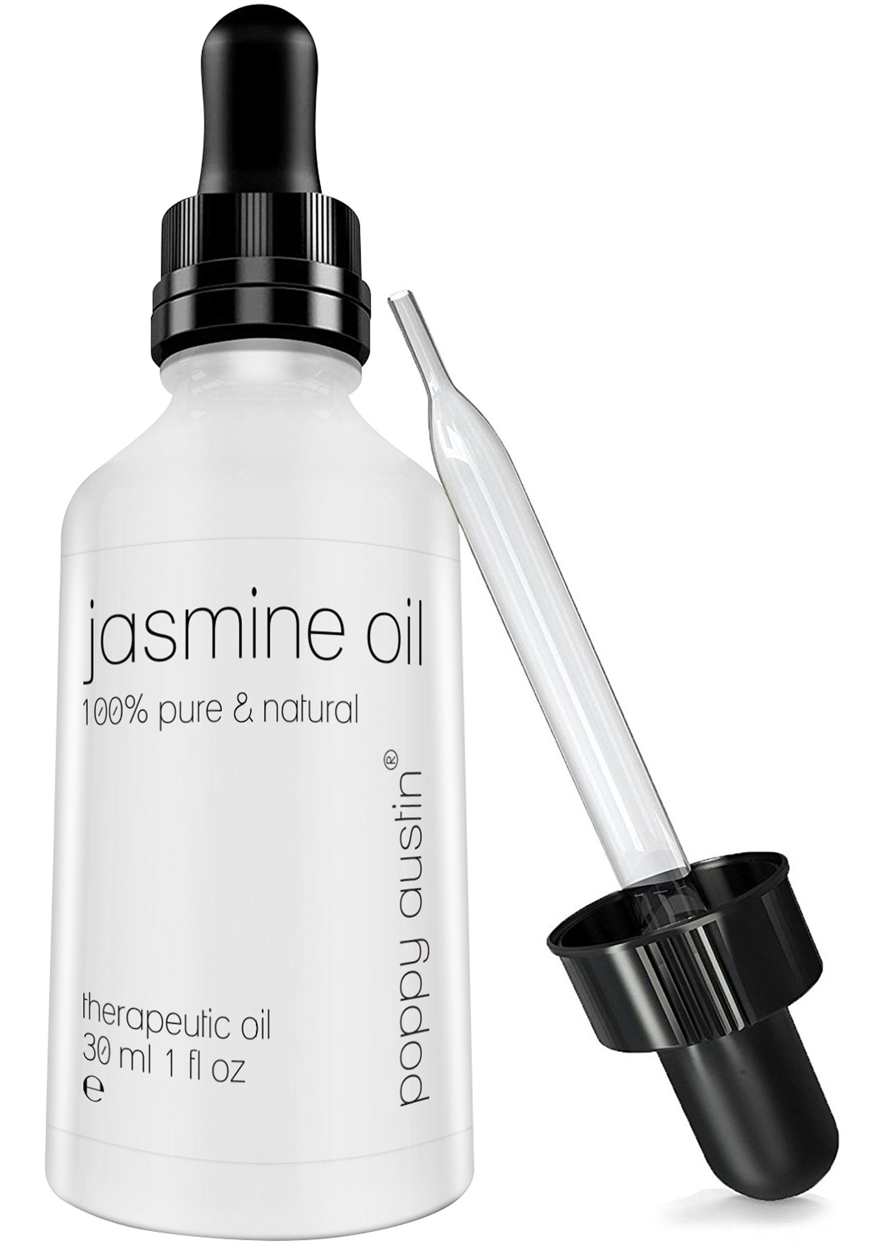 FINEST Jasmine Essential Oil (Jasminum Officinale) Therapeutic Grade - 100% Pure, Organic & Undiluted Jasmine Oil, 1 oz