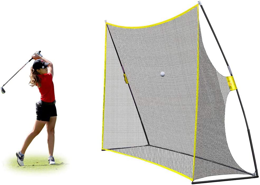 PodiuMax 10x7ft Golf Hitting Net Driving Range for Backyard Indoor Also Suitable for Soccer, Baseball, Softball Practice