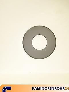 Wandrosette mit 85mm Randbreite und 120mm Innendurchmesser Ofenrohr grau