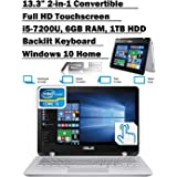 ASUS Q304UA 13.3-inch 2-in-1 Touchscreen Full HD Laptop PC