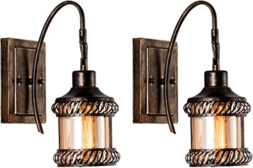 Rustic Wall Sconces 2-Pack