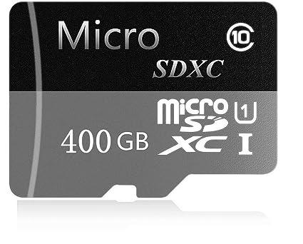 Tarjeta de Memoria SD de Alta Velocidad con Adaptador SD de 128 GB/256 GB/400 GB Micro SD SDXC