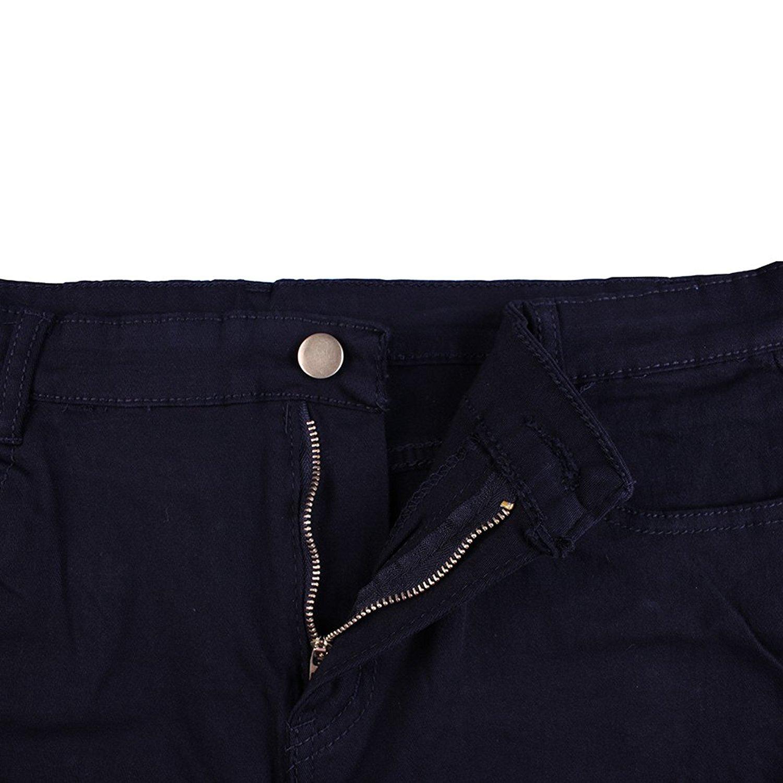Rela Bota High Waist Butt Lifting Push Up Ripped Distressed Denim Shorts Large Black by Rela Bota (Image #5)