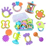 Amazon Price History for:10 Baby Rattles, Infants Teething Toys, Babies Teether, Ball Shaker, Grab, Spin Rattle, Musical Play Gift Set for 0, 1, 2, 3, 4, 5, 6, 7, 8, 9, 10, 12, 18 Month Old Newborn, Boy, Girl - iPlay, iLearn