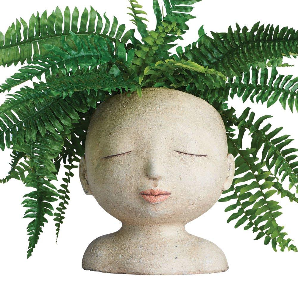 Amazon planter urns patio lawn garden art artifact head of a lady indooroutdoor resin planter izmirmasajfo