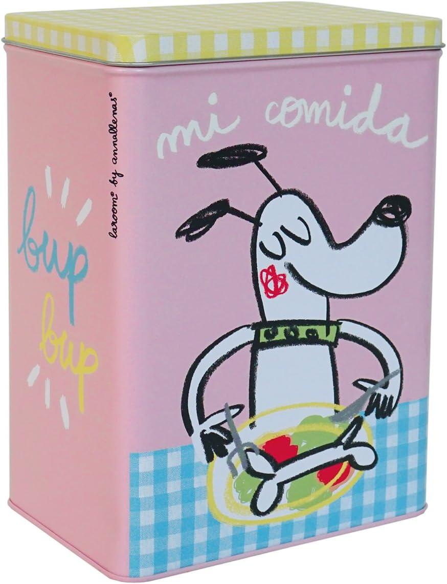 Laroom Caja Metálica diseño Mi Comida para Perro Pequeña, Metal, Multicolor, 14x10x20 cm: Llenas Anna: Amazon.es: Hogar