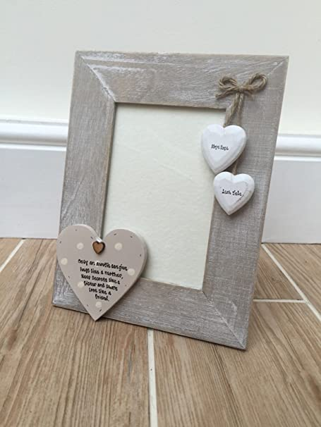 Shabby Personalised Chic Auntie ~ Aunty ~ great Aunt Photo Frame ...