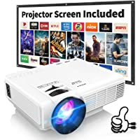 """Latest Upgrade 7500Lumens Mini Projector for Outdoor Movies, Full HD 1080P 170"""" Display… photo"""
