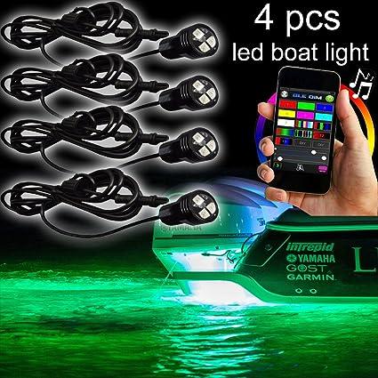 Amazon Com Nbwdy Rgb Bluetooth Led Boat Lights With