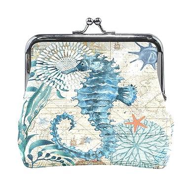 Amazon.com: Monterey Bay Seahorse - Monedero para mujer ...