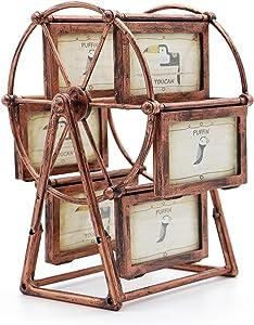 MLADEN Retro DIY Photo Frames Ferris Wheel Rotatable Windmill Picture Frame Vintage Decor Gift
