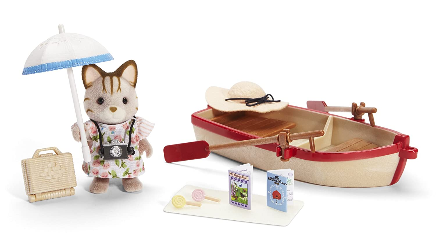 amazon com calico critters rosie u0027s row boat toys u0026 games