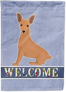 Caroline's Treasures CK3695GF Miniature Pinscher Welcome Flag Garden Size, Small, Multicolor
