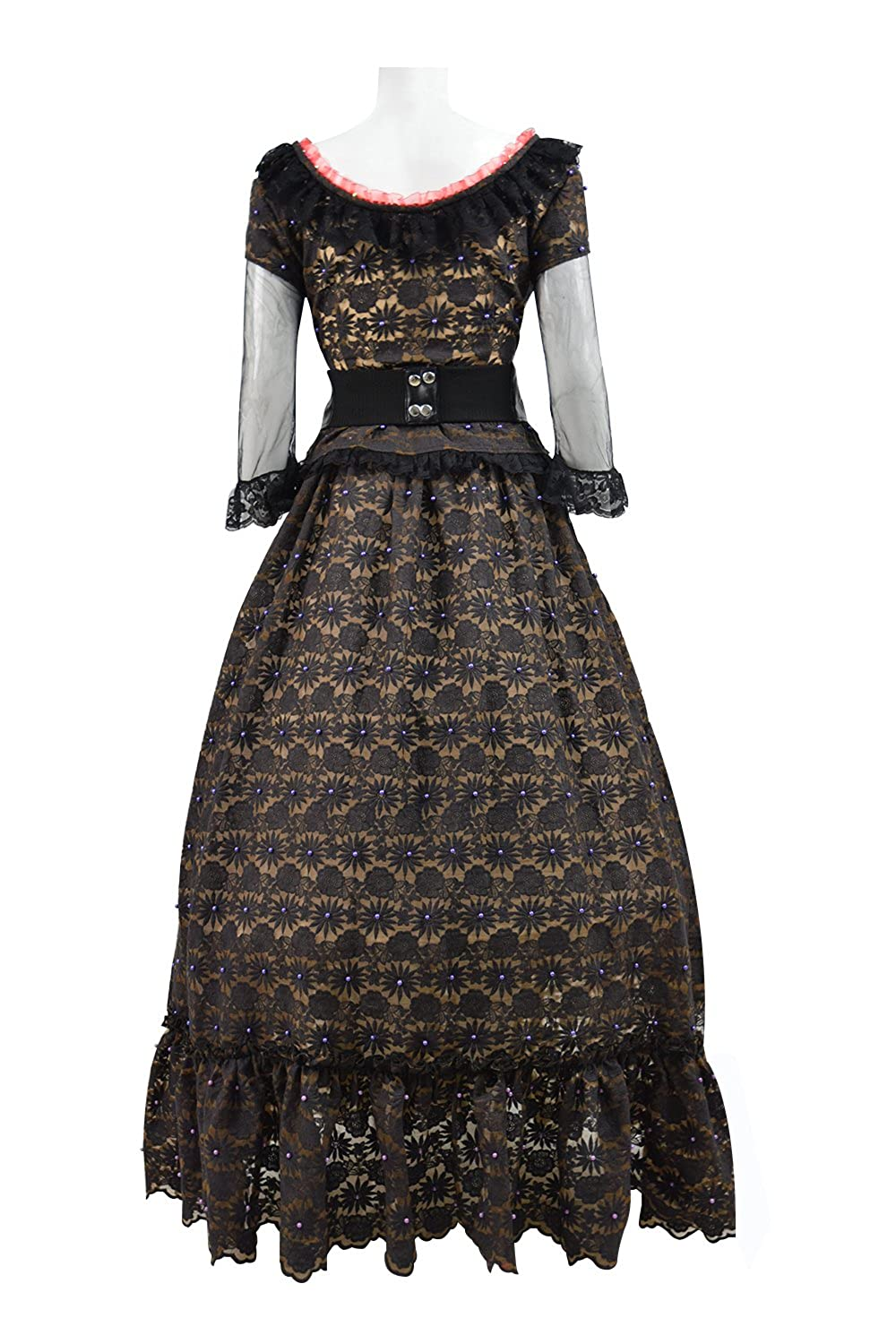 Make an Easy Victorian Costume Dress with a Skirt and Blouse Mrs. Lovett Costume Halloween Cosplay Party Black Classic Lolita Dress $99.99 AT vintagedancer.com
