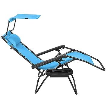 Fabulous Amazon Com New Blue Folding Zero Gravity Lounge Chair W Pabps2019 Chair Design Images Pabps2019Com