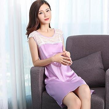 Pijamas de Verano Sexy Falda camisón Ladies Primavera Vestido de ...